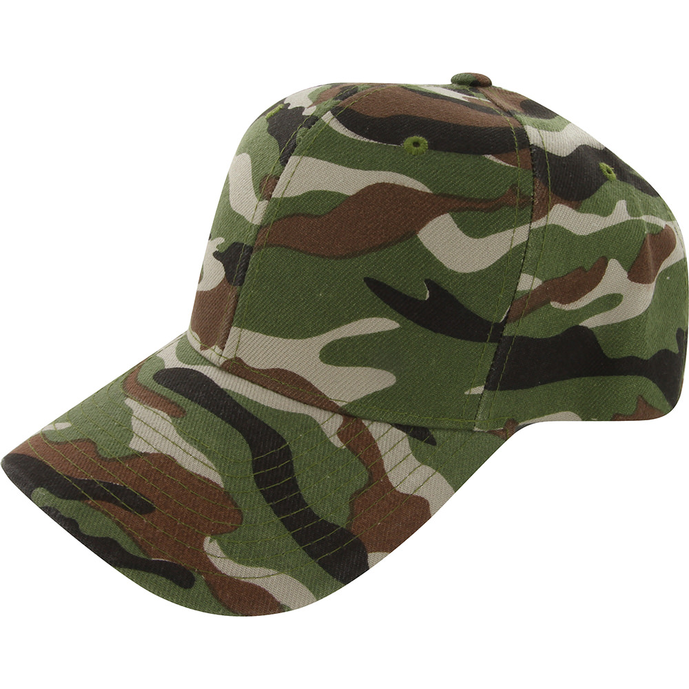camo cap adjustable velcro fishing hat