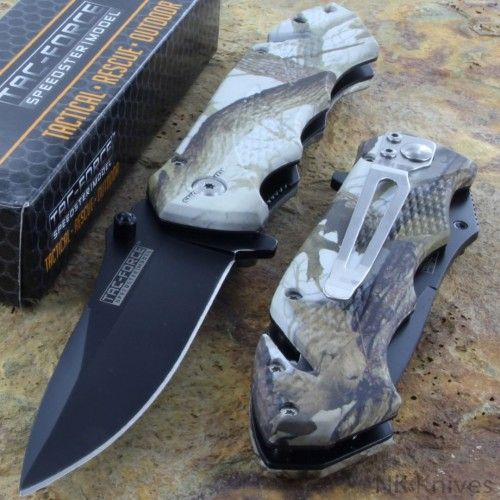 Tac Force Easy Folding Pocket Lock Rescue Knife Black Stainless Steel Blade New!