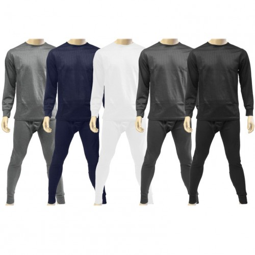 Men's 2 Piece Thermal Set Long Johns Top and Bottom Winter Wear