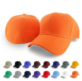 Plain Curved Fitted Sized Baseball Cap