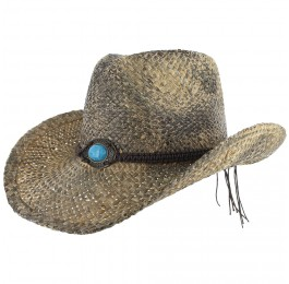 Western Rodeo Shapeable Straw Cowboy Hat