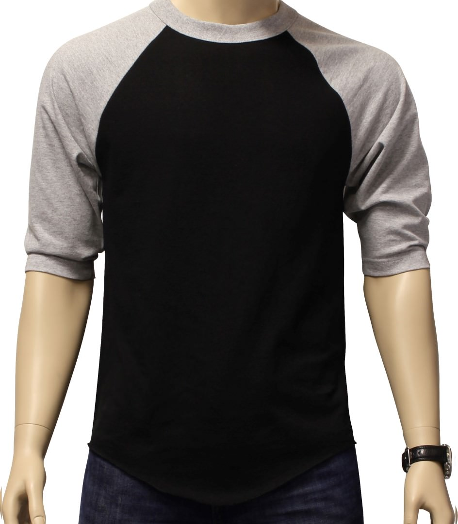 new 3 4 sleeve raglan baseball mens plain tee jersey team. Black Bedroom Furniture Sets. Home Design Ideas